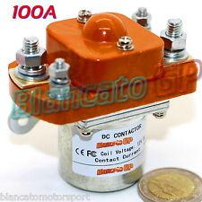 TELERUTTORE CONTATTORE BOBINA 12V DC CORRENTE NOMINALE 100A  1NO SPST battery