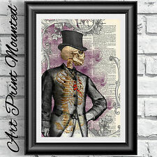 Victorian Goth Print mounted dictionary book page print Gentleman wall decor art