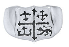 A&G ROCK AUTHENTIC SHIELD DESIGN RING IN STERLING SILVER LHR12