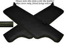 YELLOW STITCHING FITS JAGUAR XJ6 SERIES 2 2X SUN VISORS LEATHER COVERS ONLY