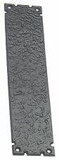 Rustic Style Door Finger Plate in Black Cast Iron AB340