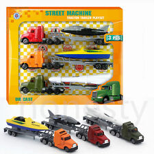 3pcs Alloy Toy Cars Set  Pull Back Car Model Child Engineering Transporter Truck