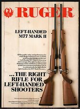 1991 RUGER  M77 Mark II Left-Handed Rifle PRINT AD