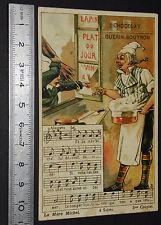 RARE CHROMO GUERIN-BOUTRON 1890-1899 LA MERE MICHEL 3ème COUPLET CHANSONS