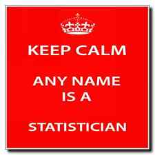 Statistician Personalised Keep Calm Coaster