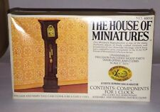 1/12 WILLIAM & MARY TALL CASE GRANDFATHER CLOCK KIT #40018 HOUSE MINIATURES NOS