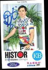 LUC COLYN HISTOR SIGMA Autographe cycling Signé Signature cyclisme ciclismo