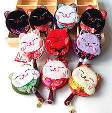Lady Girl Japan Traditional Fortune Lucky Manekineko Cat  Handle Mirror gift her