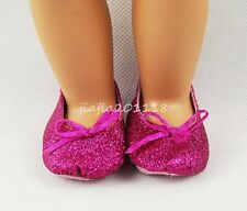 Rose Bowknot Shoes Footwear For 18'' American Girl Dolls Clothes Girl Gifts