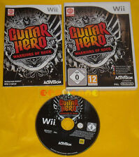 GUITAR HERO WARRIORS OF ROCK Nintendo Wii Versione Europea ♦♦♦♦ COMPLETO