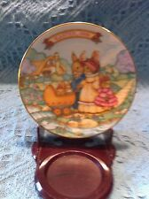 """NEW AVON 1991 PORCELAIN EASTER PLATE COLLECTION """"SPRINGTIME STROLL"""""""