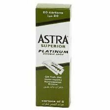 4X Astra Superior Platinum Double Edge Razor Shaving Blades-BRAND NEW-FAST SHIP