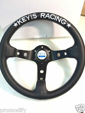 320mm Leather Deep Dish Steering Wheel OMP MOMO Nardi Rally Drift KEYs Style