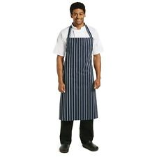 Whites Polycotton Bib Apron Navy XL Kitchen Catering Extra Long Ties Uniform