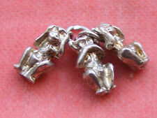 VINTAGE STERLING SILVER CHARM SEE NO HEAR NO SPEAK NO EVIL MONKEYS