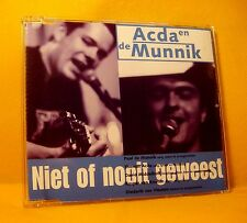 MAXI Single CD Acda en de Munnik Niet Of Nooit Geweest 4TR 1998 Pop Rock