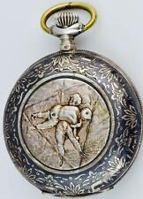 Important historical silver&niello watch from 1st Olympic Games c1896,Athens