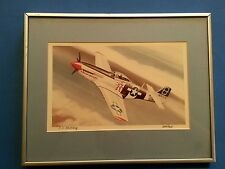 Uwe Feist Aviation Art - P-51 Mustang Print Signed Metal Frame