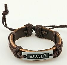 Bracelet WWJD? What Would Jesus Do Surfer Style Gift Accessory Unisex  NEW