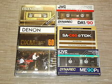 6 new old stock vintage TDK JVC Denon Maxell Cassette Tape