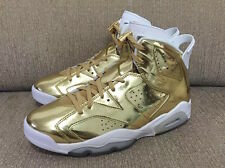 2016 Nike Air Jordan 6 VI Retro Pinnacle SZ 7 Metallic Gold Premium 854271-730