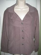 NWOT NorthStyle Women's Solid CHOCOLATE Cotton Corduroy Jacket SIZE M (10-12)