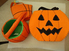 Lot of Halloween Items - Bags, Tray, Stickers, Goblet...