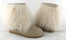 UGG Classic Short Sheepskin Cuff Mongolian Fur Boots Sand 11 *NEW IN BOX*