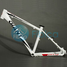 "New GIANT ATX PRO Alloy MTB Mountain Bike Frame BSA 26er 18"" Size M White"