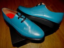 PAUL SMITH SMART DESIGNER TURQUOISE LEATHER LACE UP SHOES UK 9 EU 43
