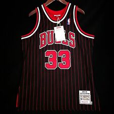 100% Authentic Mitchell & Ness Scottie Pippen Bulls Pinstripe Jersey Size 48 XL