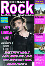 THE 1975 MATTHEW HEALY Personalised 'MAGAZINE' Birthday Card ! ANY NAME.COOL! 2