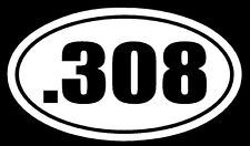 .308 Vinyl Decal Sticker Car Window Wall Bumper Gun Ammo Sniper Rifle 7.62 M14
