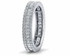 1.50carat Princess & Round Brilliant Cut Diamonds Full Eternity Wedding Ring