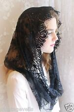 Evintage Veils~ Our Lady Vintage Inspired Lace Chapel Veil Mantilla Infinity