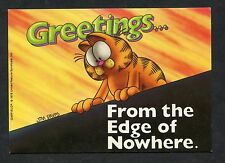 "Garfield the Cat - ""From the Edge of Nowhere"". Stamp/Postmark - 1985"