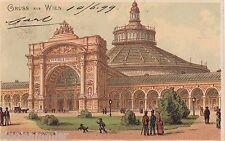 Gruss aus Wien AK 1899 Litho Rotunde im Prater Künstler Österreich 1610353