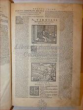 ENEIDE Figurato '500: VIRGILIO UNIVERSUM POEMA 1562 Venezia Bucoliche Georgiche