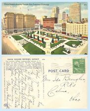 Aerial View of Union Square Garage San Francisco California Teich 1951  Postcard