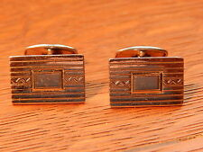Vintage Simmons Mid Century 925 Sterling Silver Cufflinks Made In USA