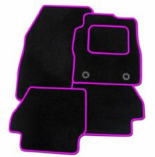 FORD FOCUS ST 2005+ TAILORED CAR FLOOR MATS BLACK CARPET WITH PINK TRIM