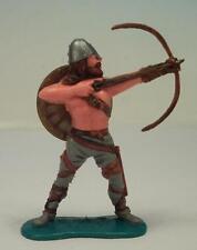 Timpo Toys Wikinger Viking Bogenschütze stehend mit goldenem Schild