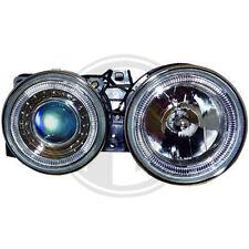 BMW E30 Angel Eyes Scheinwerfer Xenon Optik Linse Chrom Standlicht Ringe zugel