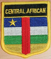 CENTRAL AFRICAN REPUBLIC Shield Country Flag Embroidered PATCH Badge P1
