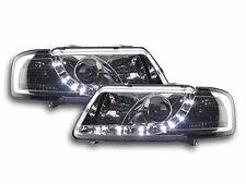 Audi A3 (1995-2000) Chrome DRL Devil Angel Eyes Front Headlights Lights - Pair