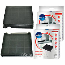 2 x BAUKNECHT Genuine Oven Cooker Vent Hood Charcoal Carbon Air Filter C00380078