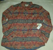 Polo Ralph Lauren Denim Supply Indian Aztec Button Up Long Sleeves Shirt XXL