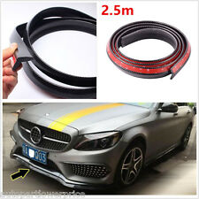 2.5M Car Front Bumper Lip Splitter Spoiler Skirt Protector Body kit Carbon Fiber