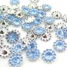 NEW DIY 50pcs 12MM Blue Resin flatback Scrapbooking for phone/wedding/Crafts D51