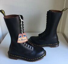 Bnib! Sz4 England Dr. Martens 1914 Vintage Collection Black Leather Boots Eu37